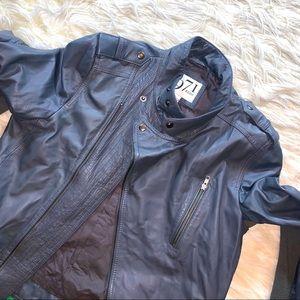 REISS  Leather Biker Jacket